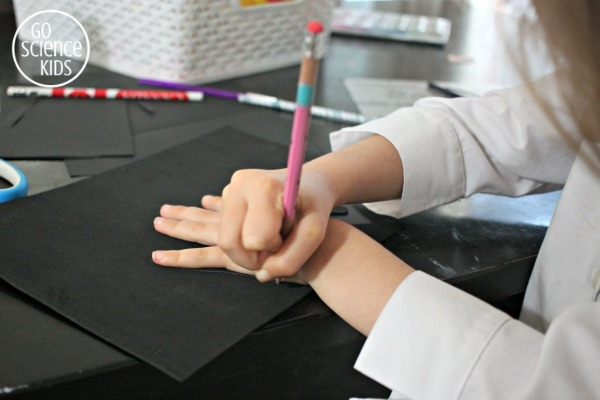 Trace around your hand using a pencil