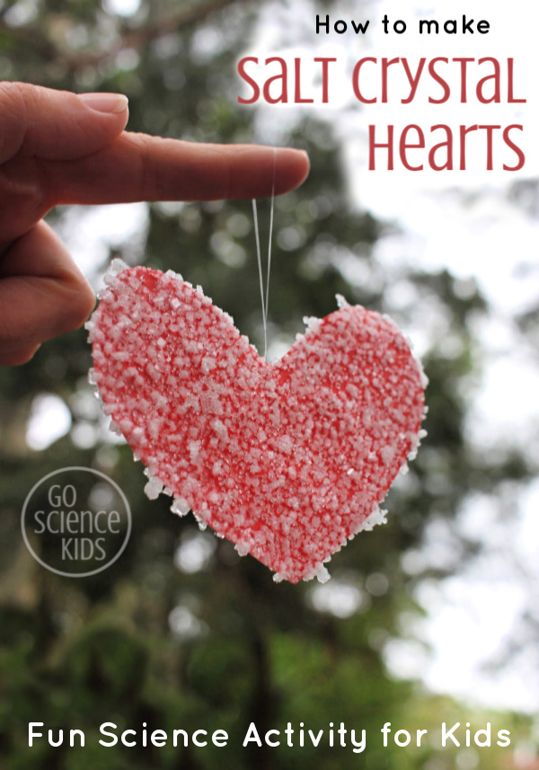 How to make salt crystal heart kids science craft