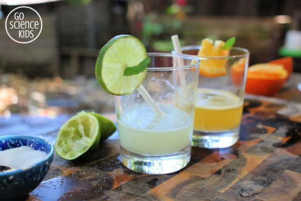 Orangeade and Limeade drinks kids can make