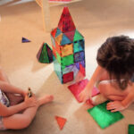 Magnatile play for preschoolers