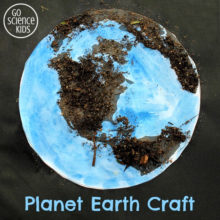 Planet Earth Craft for Kids - fun earth day activity for preschoolers