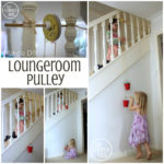 DIY Pulley for the loungeroom stairs