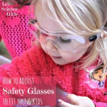 Adjust safety glasses to fit young kids