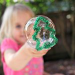 Make a Christmas tree shaped bubble wand