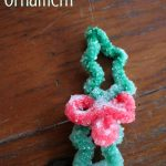 How to make a crystal holly ornament - cute Christmas science craft for kids