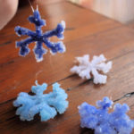 Crystal snowflakes - science craft for kids