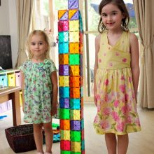 Measuring Height with Magna-Tiles