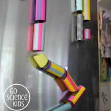 make a magnetic marble run for your fridge door