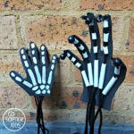 Skeleton hands DIY